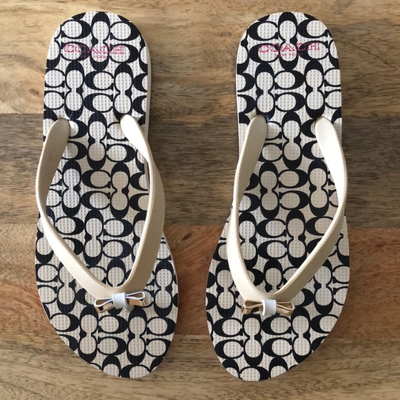 02b84cfeefc1 Coach Shoes - NEW Coach Amel Flip Flops size 6